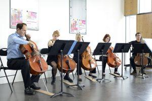 ensemble violoncelles, jpo 2016, @Nicolas Waltefaugle
